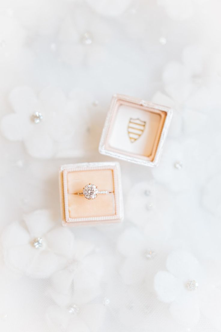 Elegant circle-cut engagement ring: Photography: Kenzie Victory - www.kenzievict...