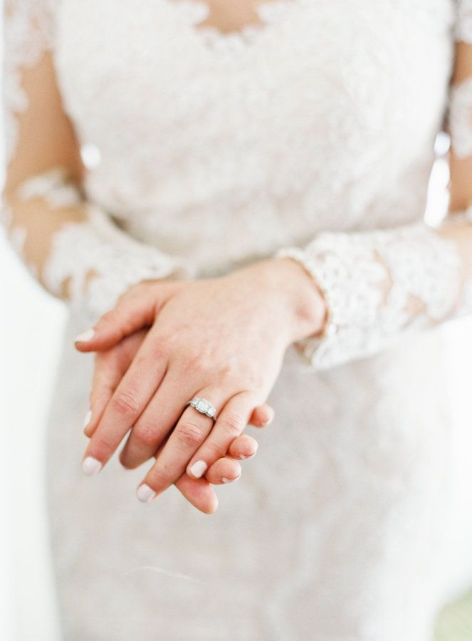Elegant diamond ring: www.stylemepretty... Photography: Michael and Carina - www...