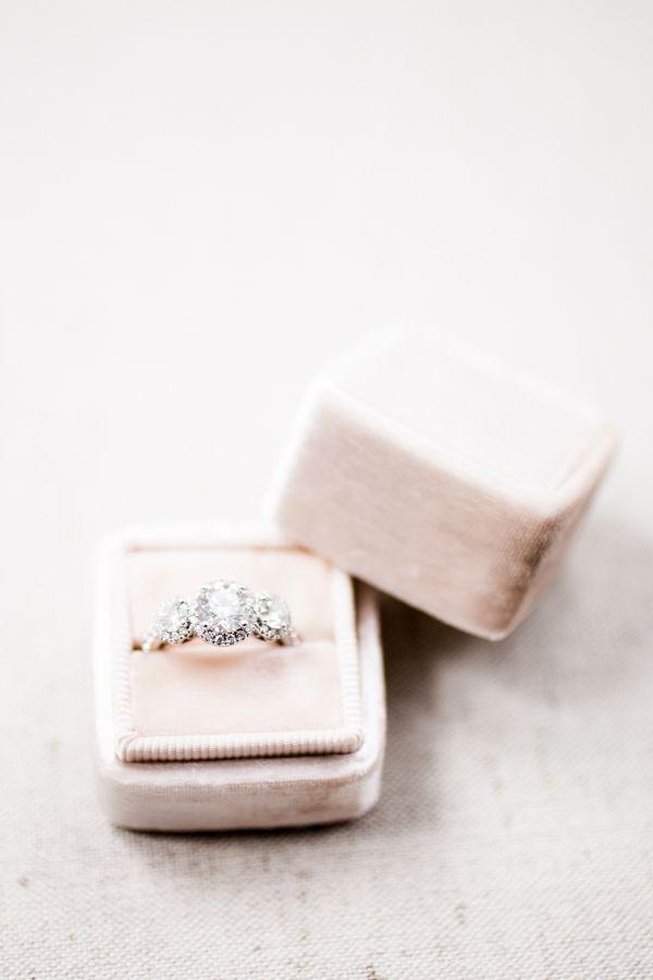Elegant diamond ring: www.stylemepretty... Photography: Rachel Red - rachelredph...