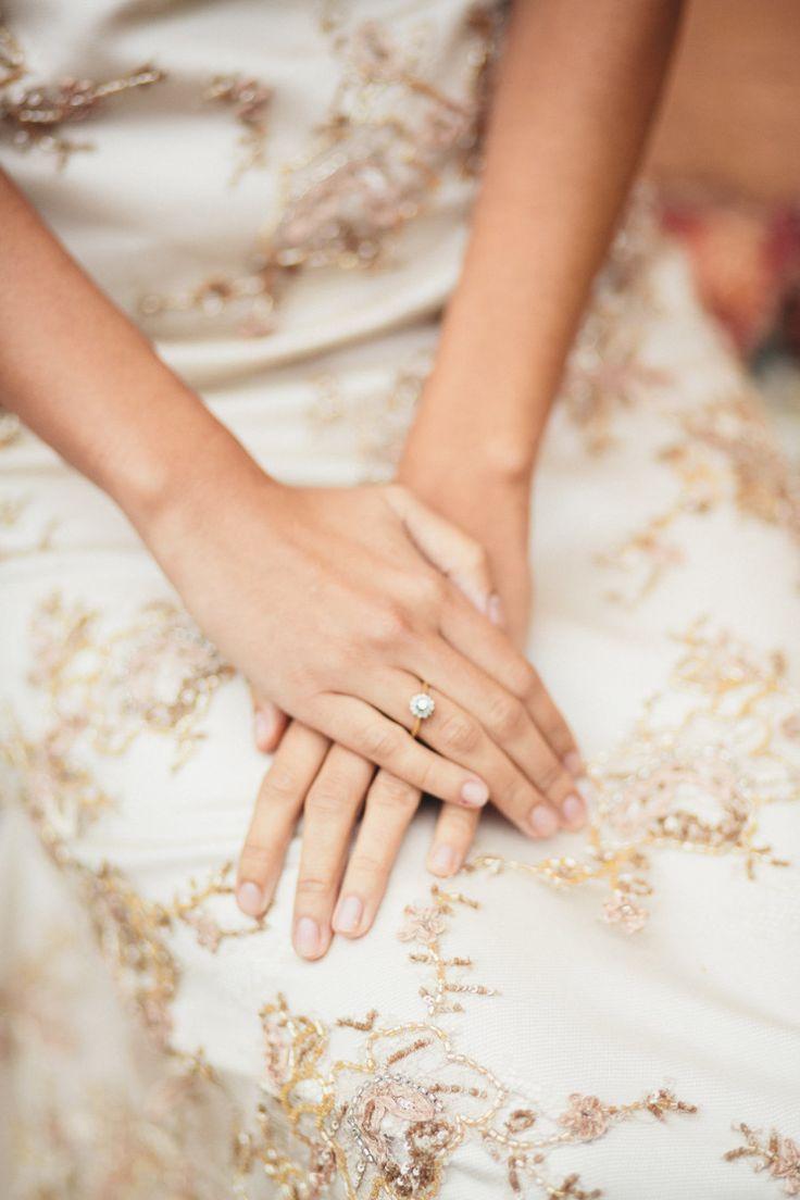 Elegant floral diamond ring: Photography: Esther and Gabe - www.estherandgabe.co...