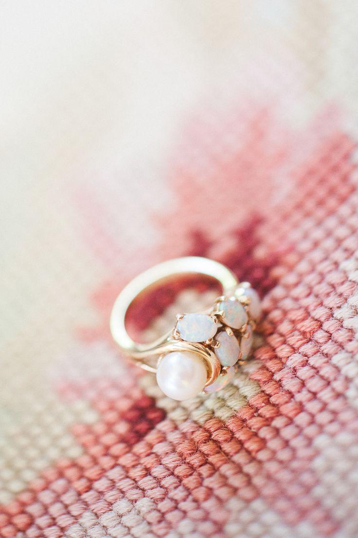 Elegant pearl engagement ring: Romantic Villa Wedding in Provence - www.stylemep...