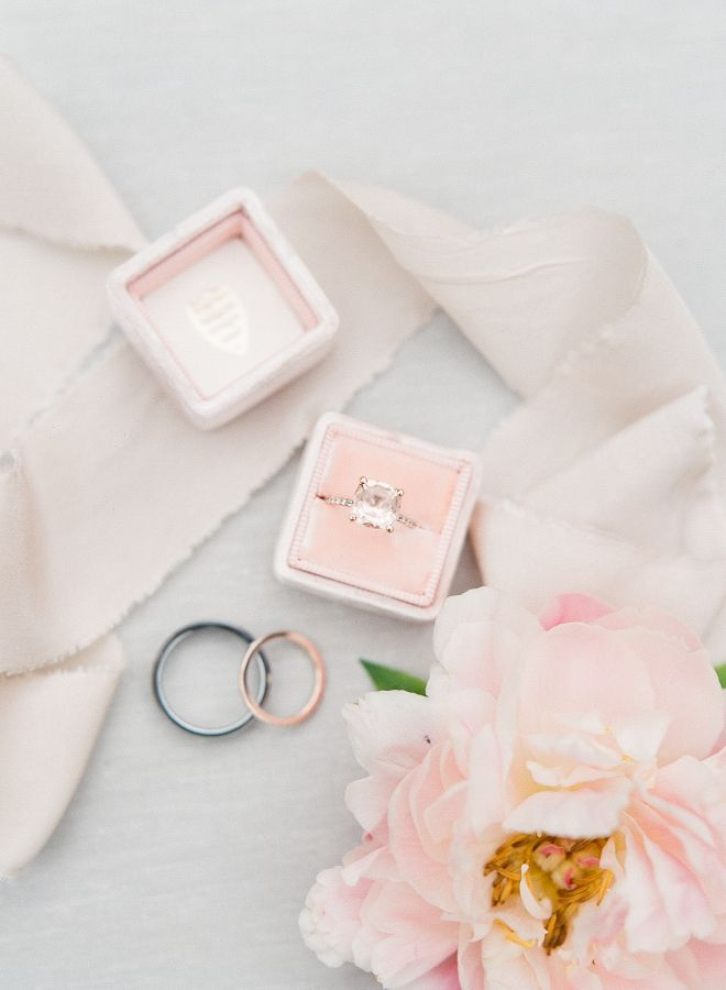 Elegant pretty in pink diamond ring: www.stylemepretty... Photography: Sophie Ep...