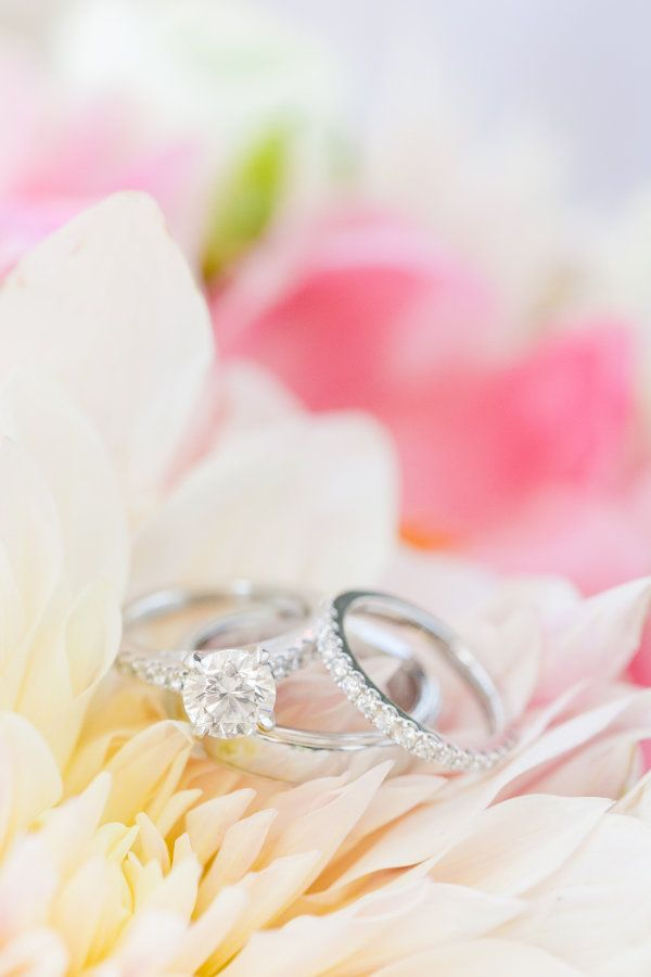 Elegant round-cut diamond ring: www.stylemepretty... Photography: Dana Cubbage -...