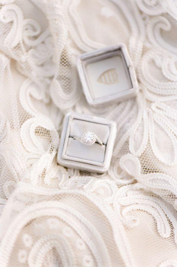 Elegant round-cut diamond twist ring: www.stylemepretty... Photography: Tamara G...