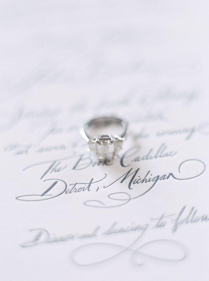Emerald-cut diamond ring: www.stylemepretty... Photography: Blaine Siesser - www...