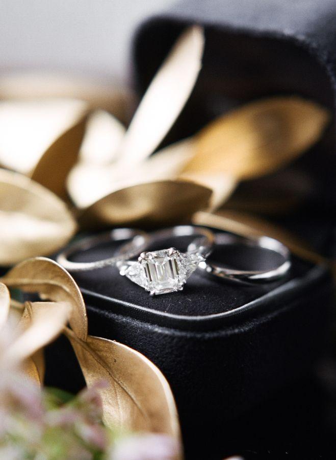 Emerald cut diamond ring: www.stylemepretty... Photography: Rebecca Yale - rebec...