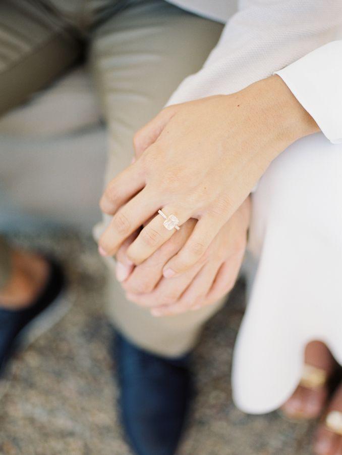 Emerald-cut diamond ring: www.stylemepretty... Photography; Sophie Kawalek - sop...