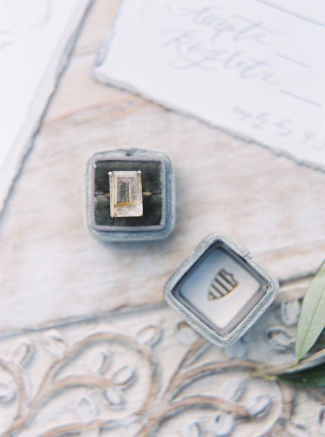 Emerald-cut engagement ring: www.stylemepretty... Photography: Jenna McElroy - j...