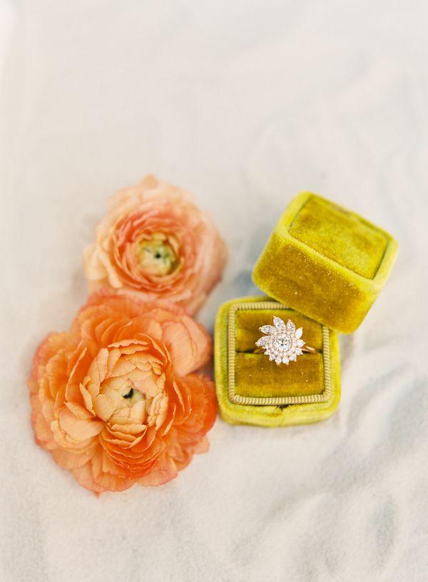 Flower petal diamond ring: www.stylemepretty...