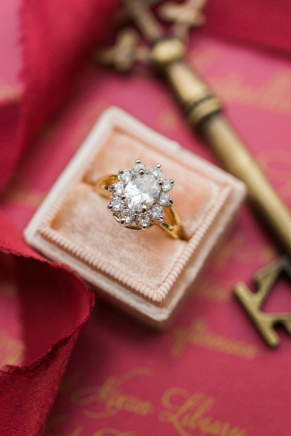 Flower petal engagement ring: www.stylemepretty... Photography: Damaris Mia - ww...