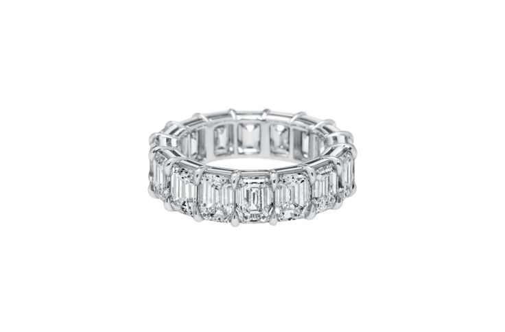 For the bold bride, make a statement with the Harry Winston Rock Bands, which yo...