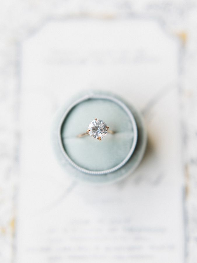 Gold band diamond ring: www.stylemepretty... Photography: Tenth and Grace - www....