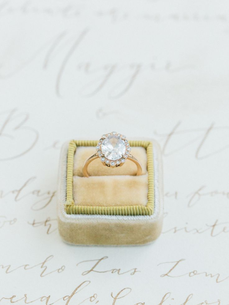 Gold circle-cut engagement ring: Wedding Photographers: Koman Photography - koma...