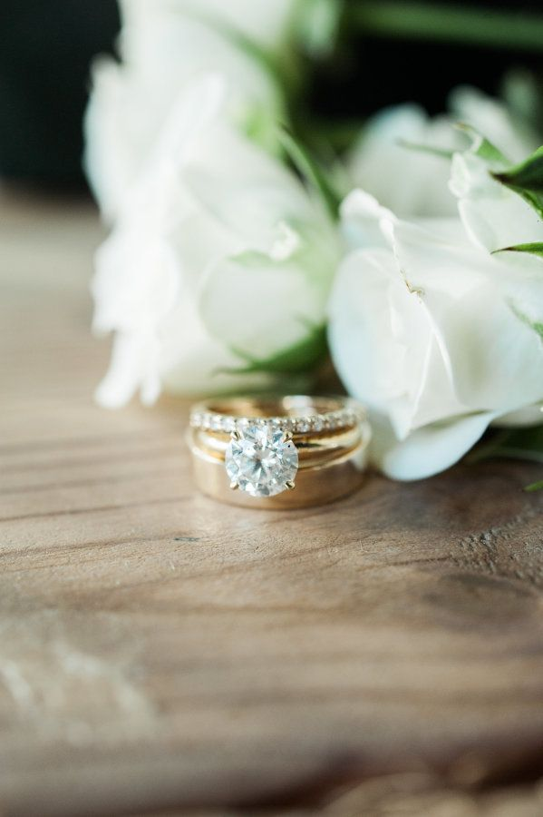 Gold circle-cut engagement ring: www.stylemepretty... Photography: Christina Lil...