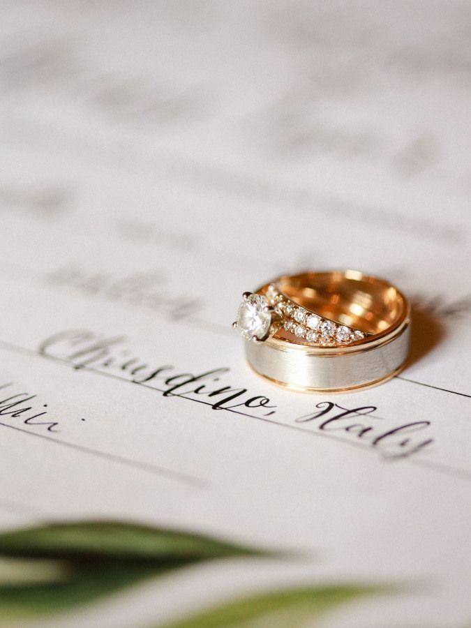 Gold diamond ring: www.stylemepretty... Photography: Krystle Akin - www.krystlea...