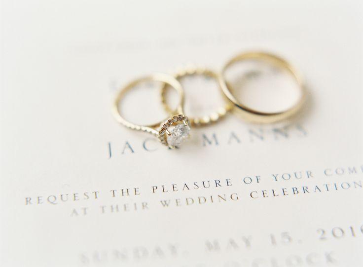 Gold diamond ring: www.stylemepretty... Photography: Sawyer Baird - www.sawyerba...