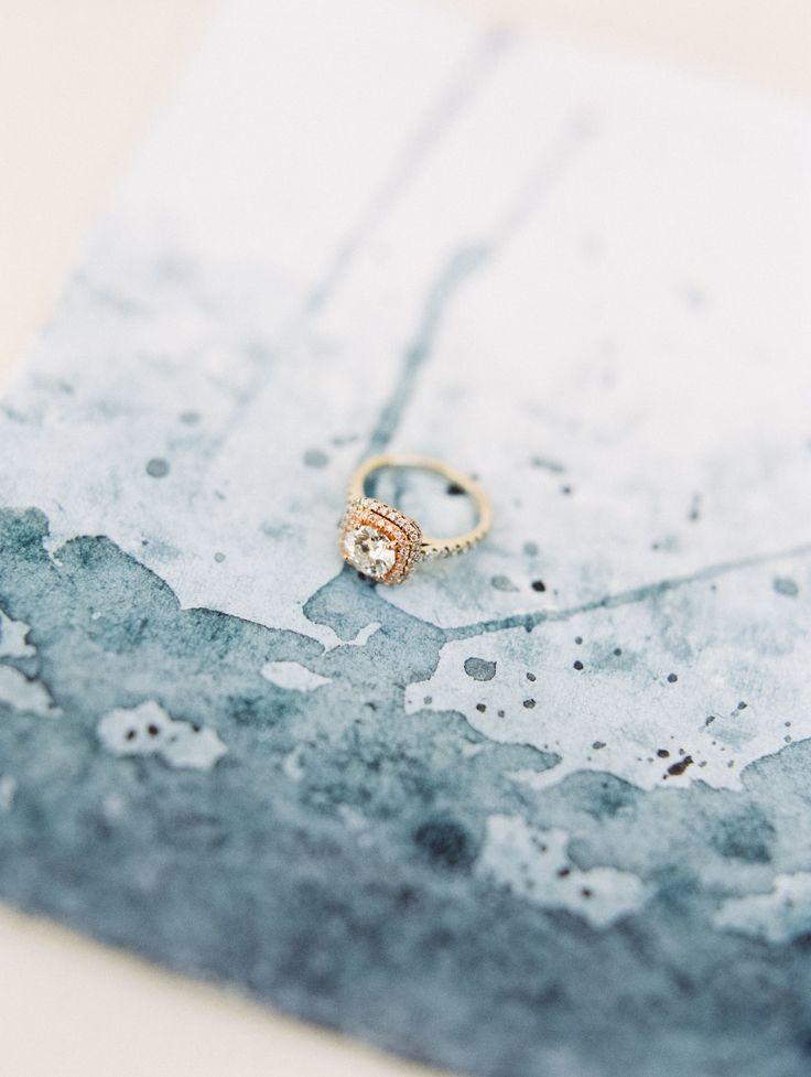 Gold engagement ring: Jewelry: Diamond Exchange Dallas - www.stylemepretty... Ph...