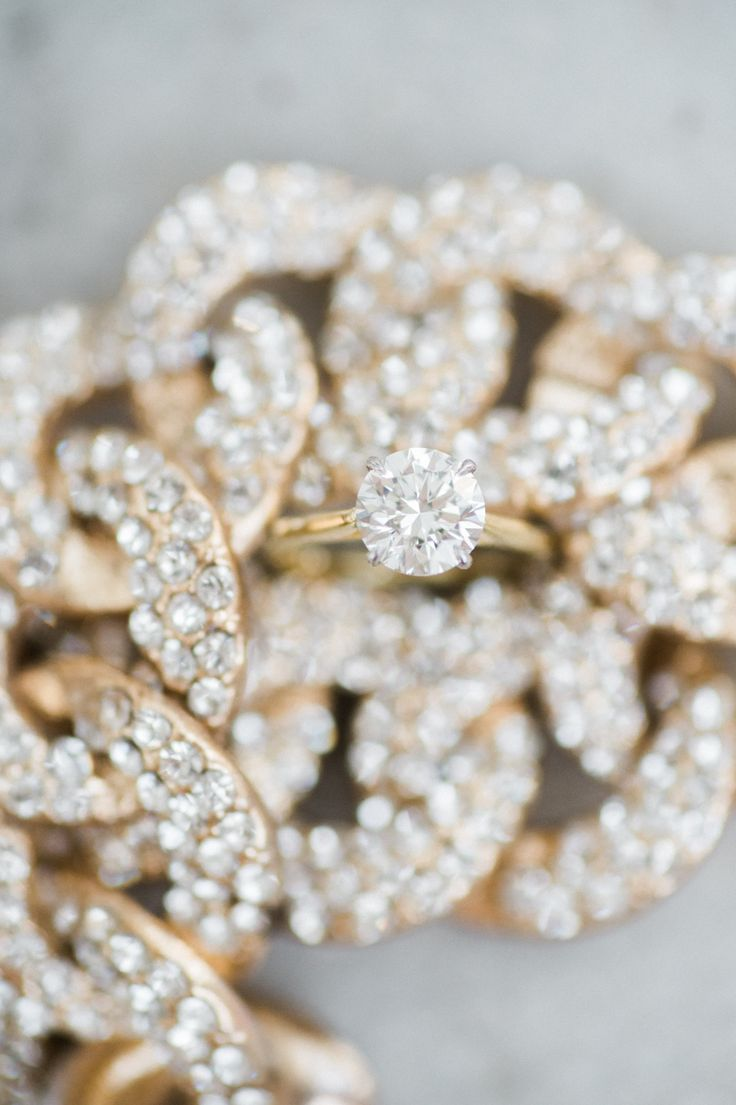 Gold round-cut diamond ring: Photography: Shannon Moffit Photography - www.shann...