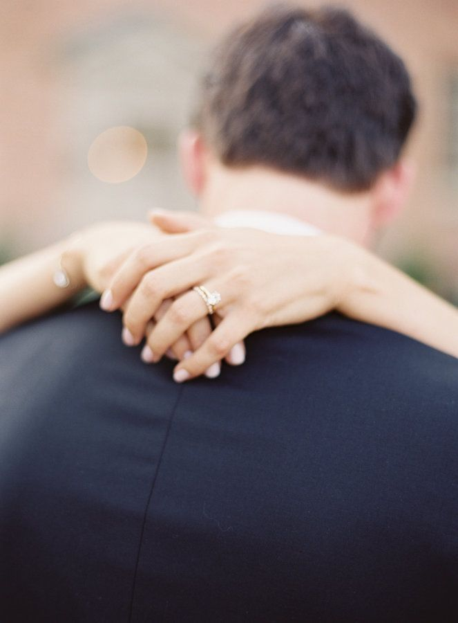 Gorgeous gold band engagement ring: www.stylemepretty... Photography: Michael an...