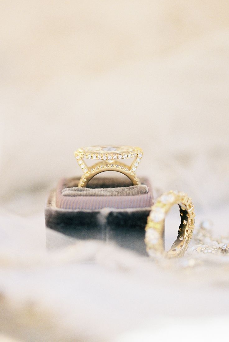 Gorgeous yellow gold engagement ring: Photography : Kristin La Voie Photography ...
