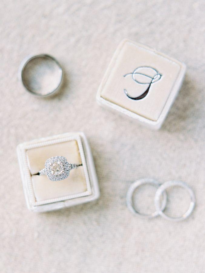 Halo setting diamond ring: www.stylemepretty... Photography: Ryan Ray - ryanrayp...