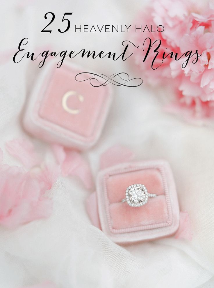 Heavenly halo engagement rings: www.stylemepretty......