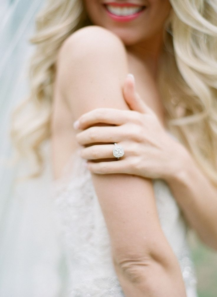 In love with this cushion cut engagement ring: Photography : Elena Wolfe Read Mo...