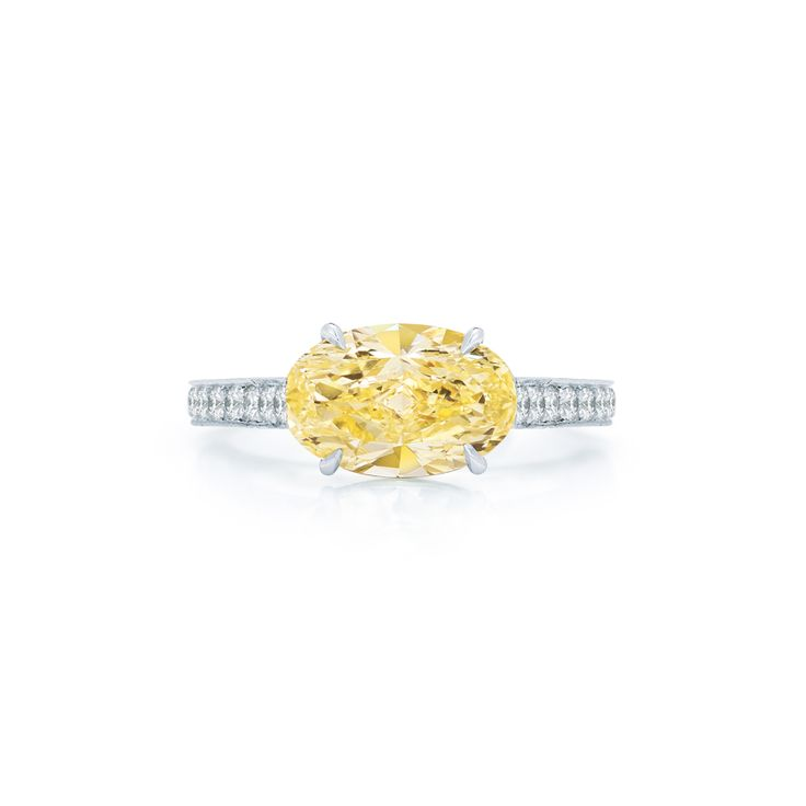 Kwiat Oval Yellow Diamond Engagement Ring: www.stylemepretty...
