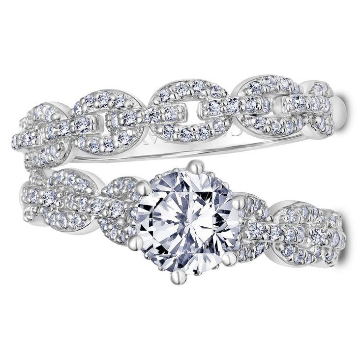 Link round-cut diamond ring: www.stylemepretty... #sponsored