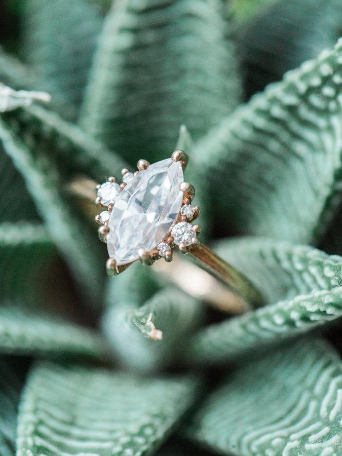 Marquise engagement ring: www.stylemepretty... Photography: Ashley Slater - www....