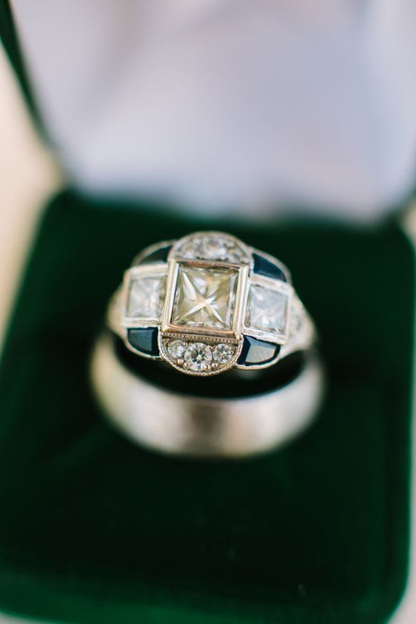 Modern engagement ring: www.stylemepretty... Photography: Rachel Moore - www.rac...