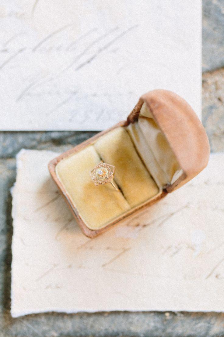 Modern unique rose gold diamond ring: Photography: Nicki Metcalf - nickimetcalf....
