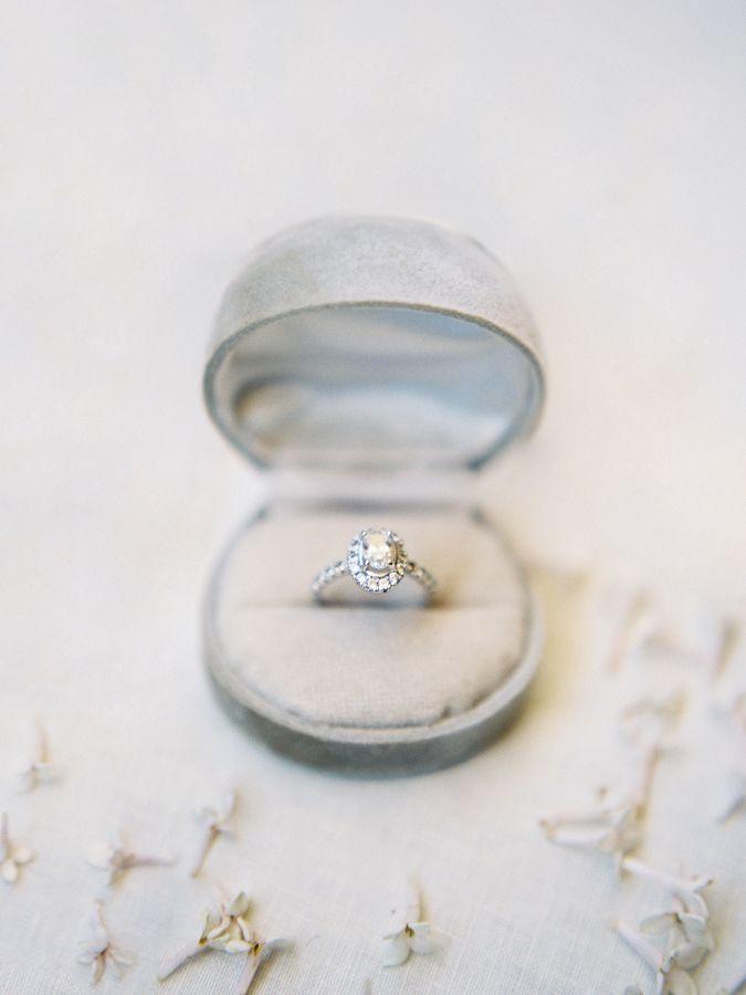 Oval-cut diamond ring: www.stylemepretty... Photography: Heather Payne - www.hea...