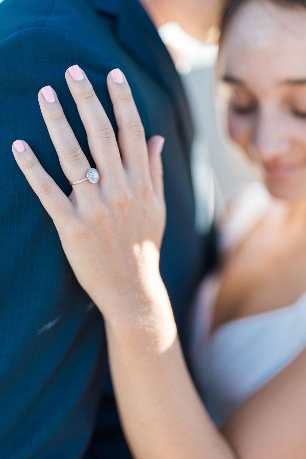 Oval-cut engagement ring: www.stylemepretty... Photography: Alex Warschauer - ww...
