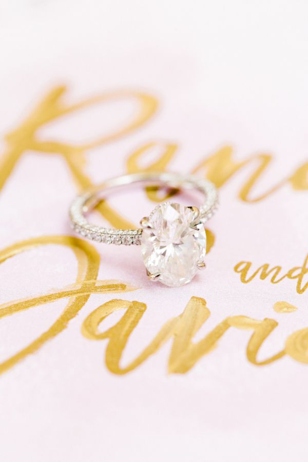 Oval-cut engagement ring: www.stylemepretty... Photography: Mandi J. - www.mandj...