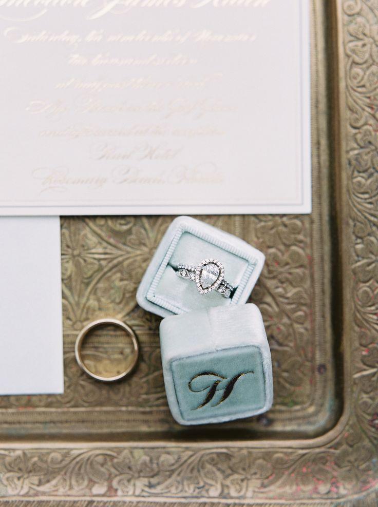 Pear-cut diamond ring in a halo setting: Invitations : Amanda Day Rose - www.ama...
