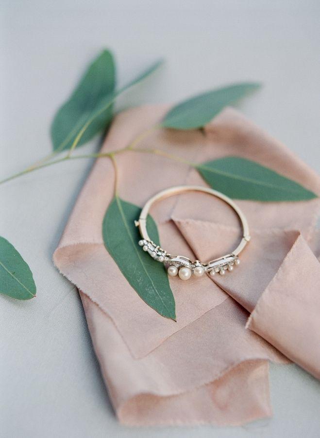 Pearl wedding band: www.stylemepretty... Photography: Elena Wolfe - elenawolfe.c...