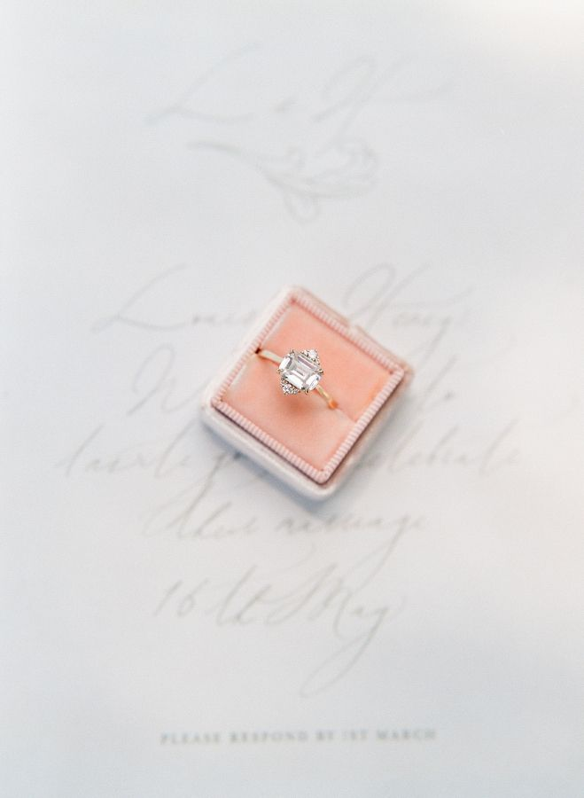 Perfect east-west engagement ring: www.stylemepretty... Photography: Sophie Epto...