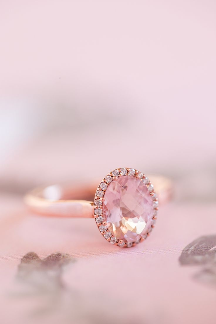 Pink diamond ring: A French Garden Styled Shoot Infused With Tropical Vibes...