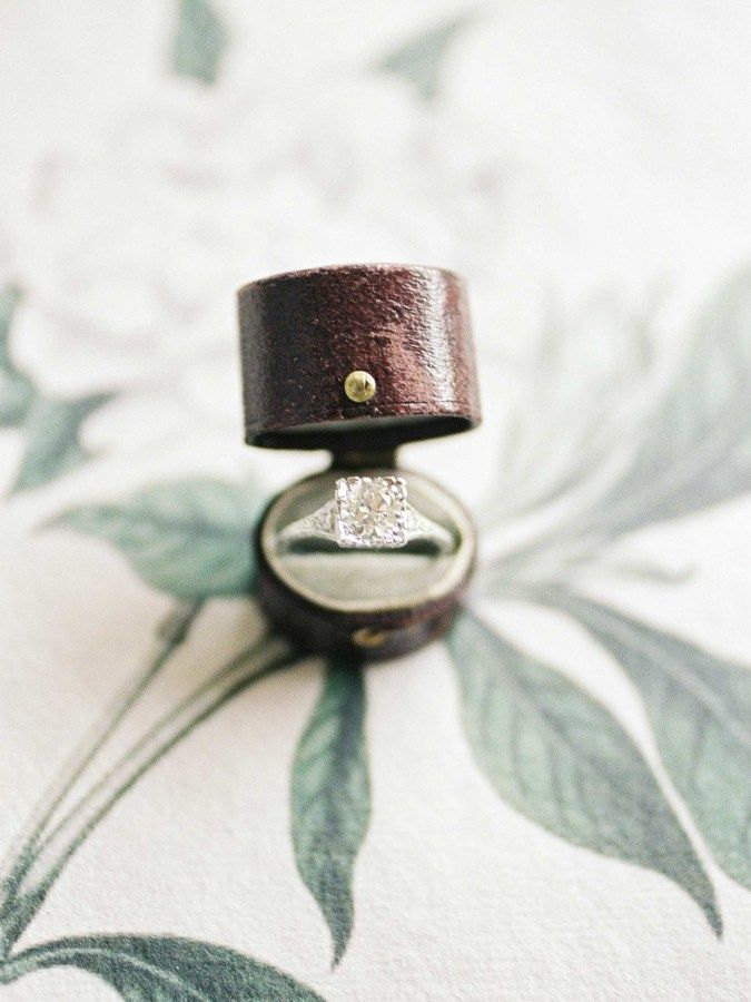 Princess-cut diamond ring: www.stylemepretty... Photography: Christine Clark - w...
