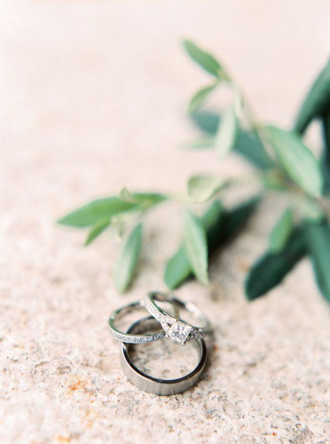Princess-cut diamond ring: www.stylemepretty... Photography: Stefanie Kapra - ww...
