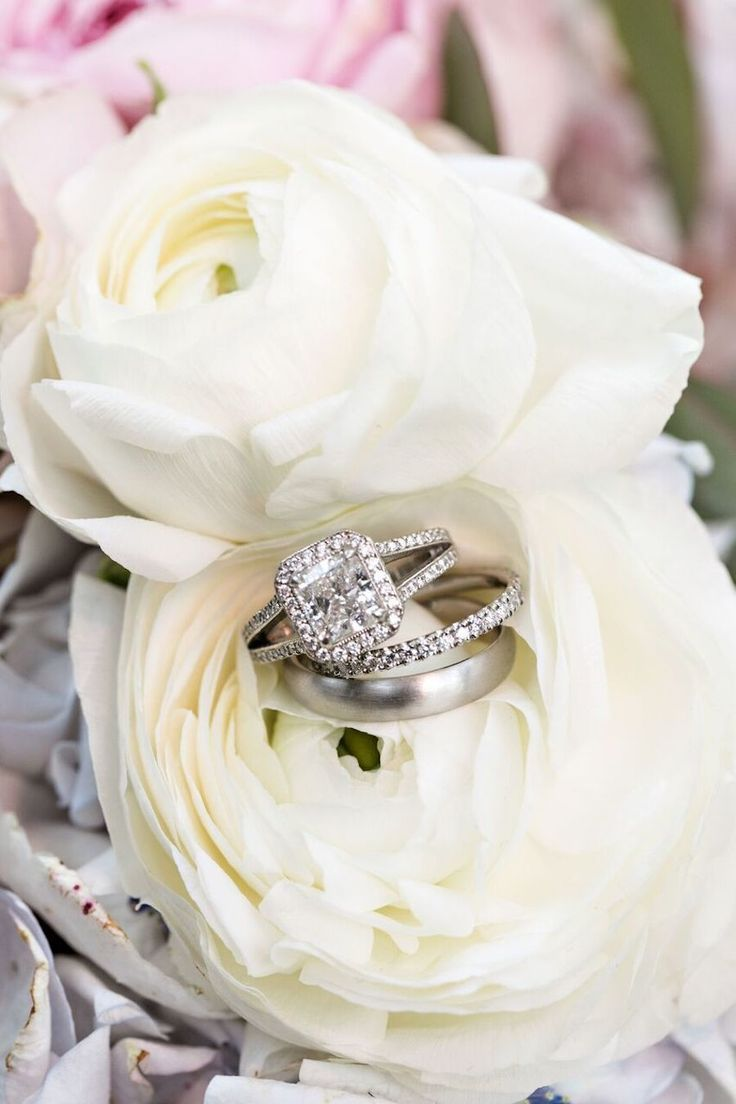 Princess-cut engagement ring: Floral Design: Cherries Flowers - www.stylemeprett...