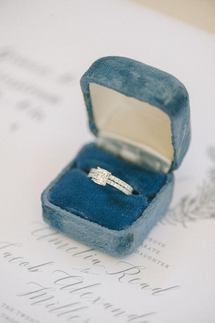 Princess-cut engagement ring: Photography: Elizabeth Fogarty - elizabethfogartyp...