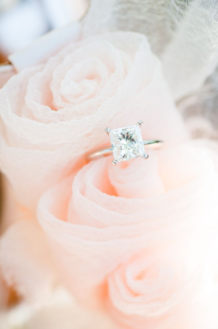 Princess-cut engagement ring: Photography: Kate Webber Weddings - www.stylemepre...