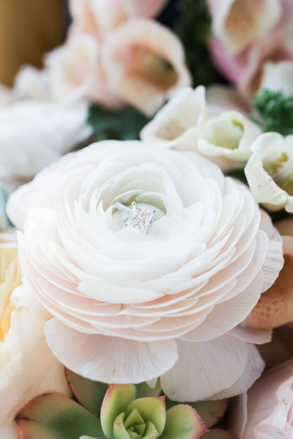 Princess -cut engagement ring: www.stylemepretty... Photography: Ashley Kelemen ...