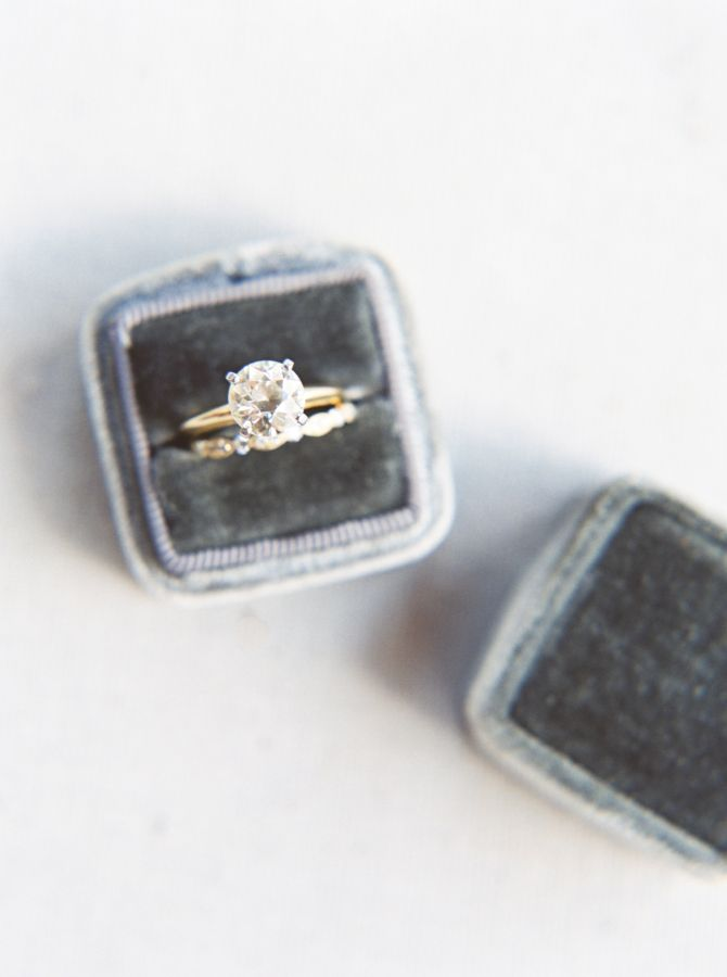 Princess-cut engagement ring: www.stylemepretty... Photography: jennamcelroy.com...
