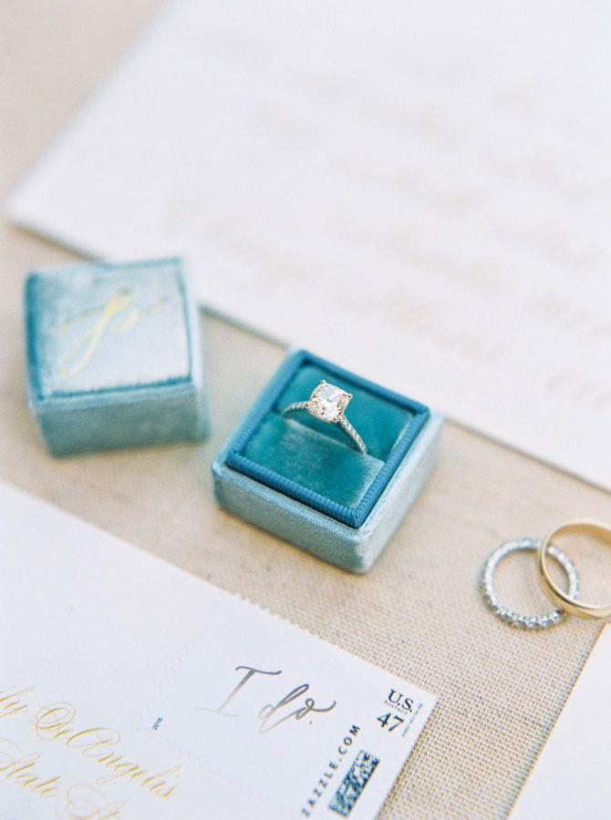 Princess-cut engagement ring: www.stylemepretty... Photography: Leslie D - lesli...