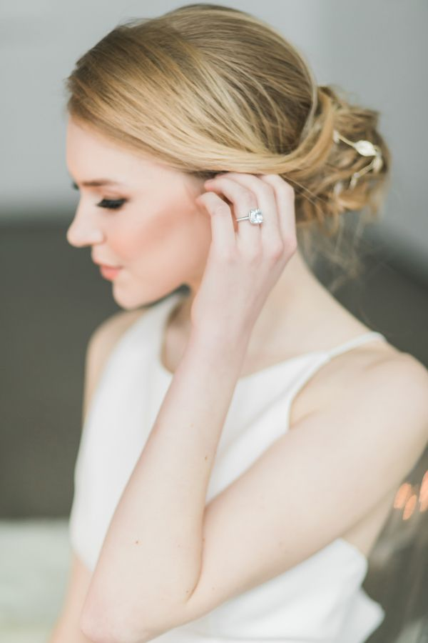 Princess-cut flawless engagement ring: www.stylemepretty... Photography: Rhythm ...