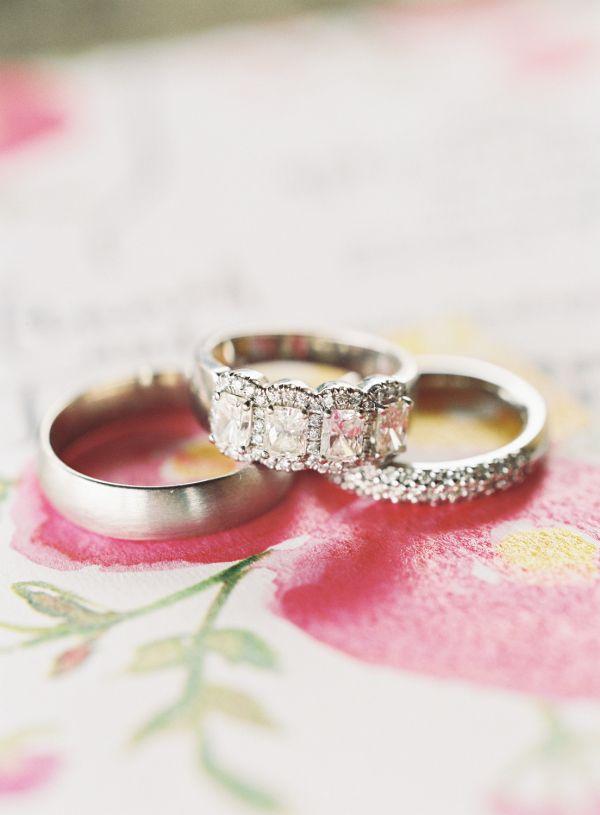 Quadruple diamond ring: www.stylemepretty... Photography: Brett Heidebrecht - br...