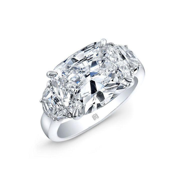 Rahaminov Diamonds 3 Stone Cushion Diamond Ring: www.stylemepretty...